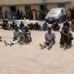Police Parade 48 Suspects For Kidnapping, Armed Robbery, Cattle Rustling